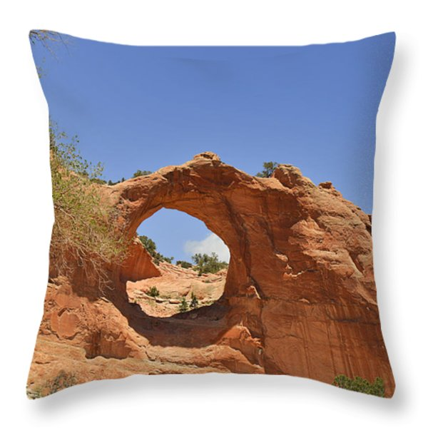 Window Rock Arizona Throw Pillow by Christine Till