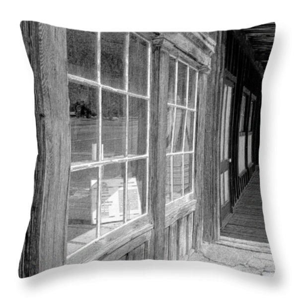 Window Shopping        Pencil Throw Pillow by Mark Eisenbeil