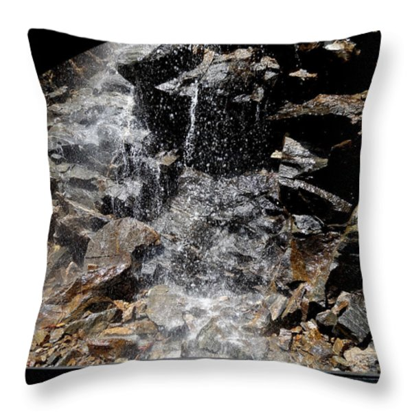 Window Waterfall Throw Pillow by Dan Sproul
