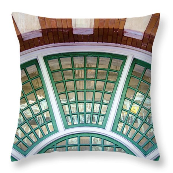 Windows Of Ybor Throw Pillow by Carolyn Marshall