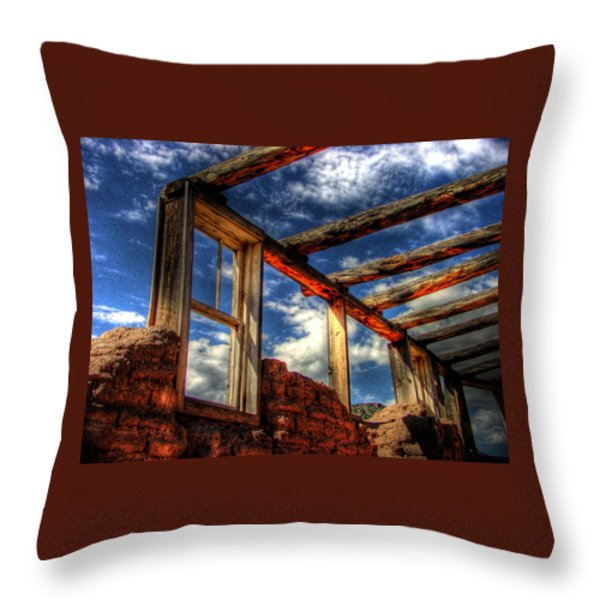 Windows To The Past Throw Pillow by Timothy Bischoff