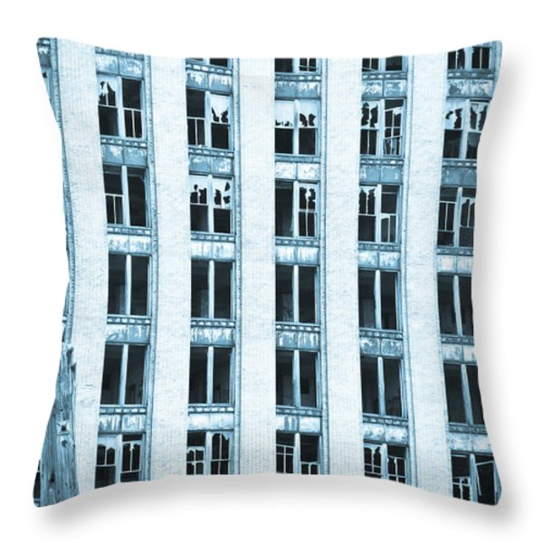 Windows To The Soul Throw Pillow by Priya Ghose