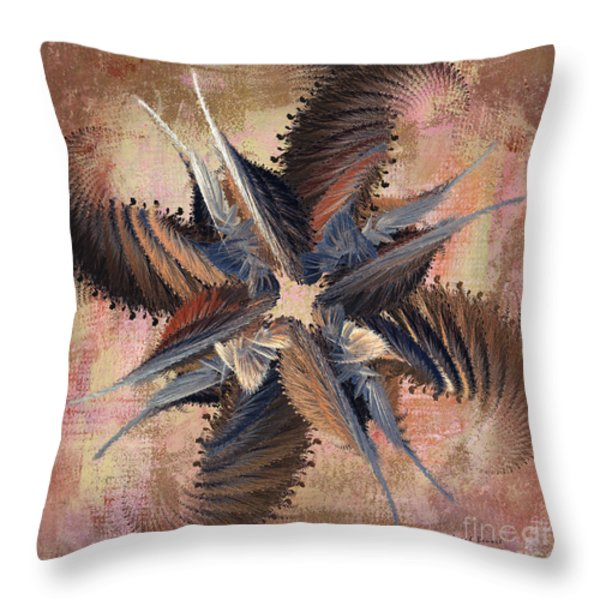 Winds Of Change Throw Pillow by Deborah Benoit