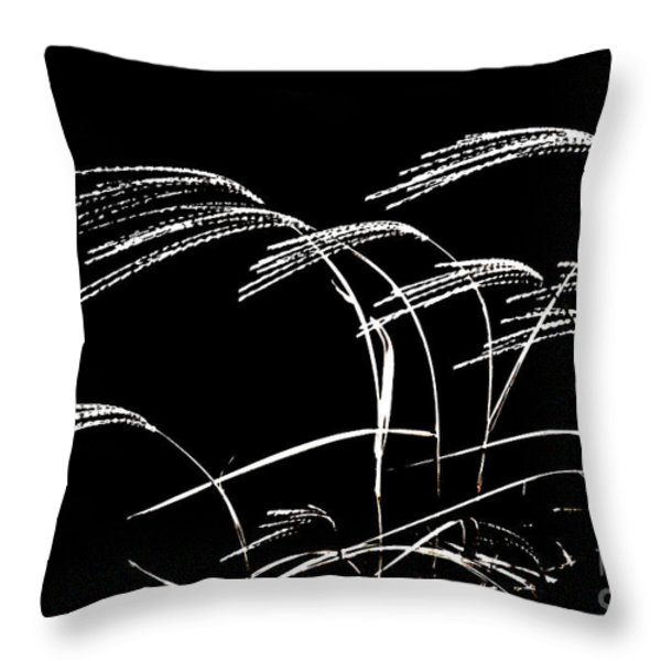 WINDSWEPT GRASSES Throw Pillow by Gerlinde Keating - Keating Associates Inc