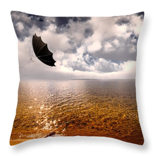 Windy Throw Pillow by Bob Orsillo
