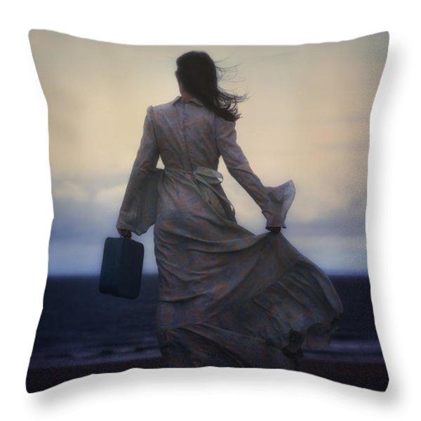 windy journey Throw Pillow by Joana Kruse