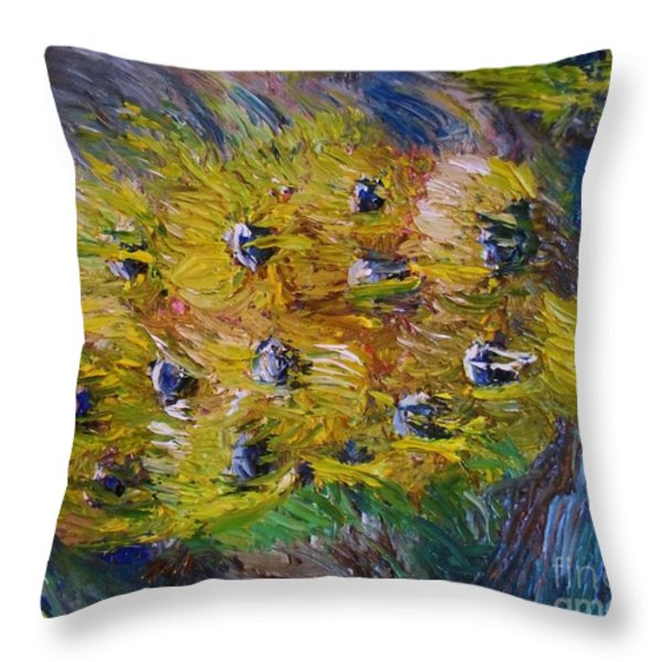 Windy Throw Pillow by Laurie D Lundquist