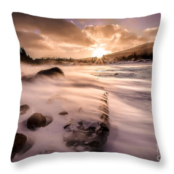 Windy Morning Throw Pillow by Steven Reed