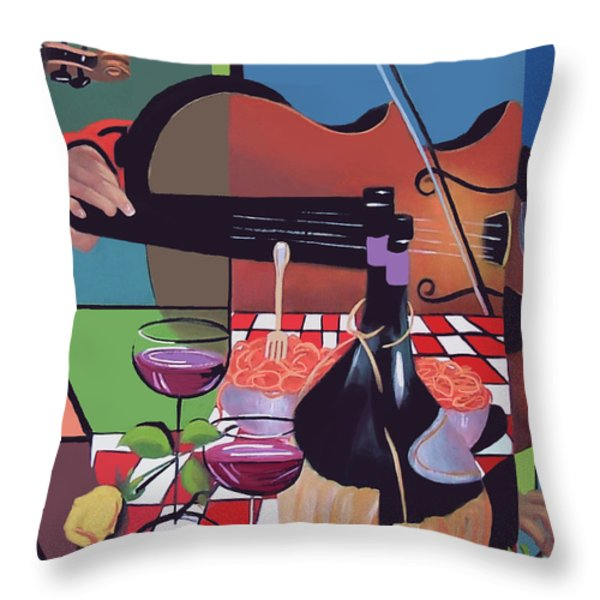 Wine And Roses Throw Pillow by Anthony Falbo
