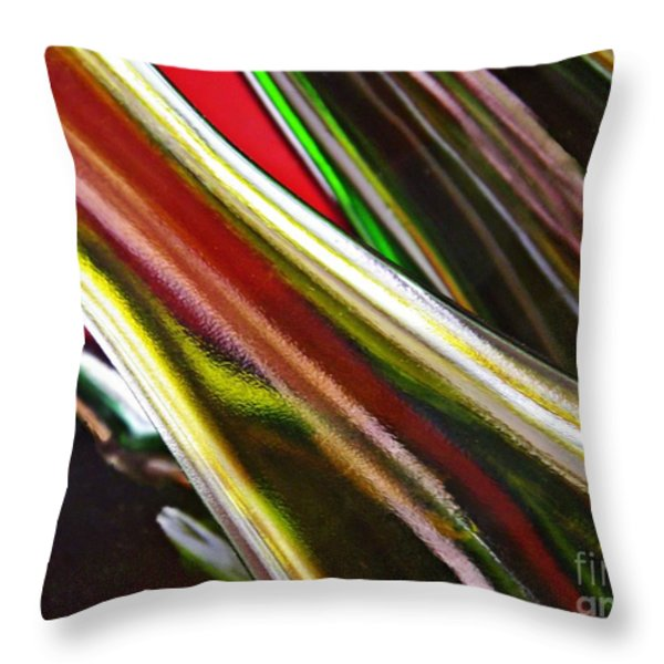 Wine Bottles 3 Throw Pillow by Sarah Loft