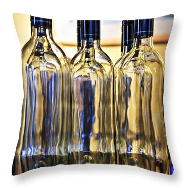 Wine bottles Throw Pillow by Elena Elisseeva