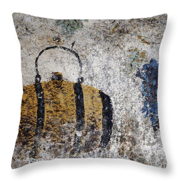 Wine Fresco Throw Pillow by Bernard Jaubert