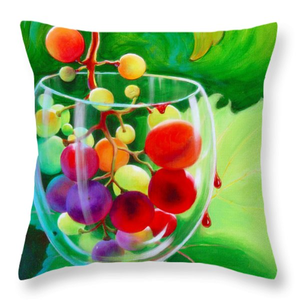 Wine On The Vine IIi Throw Pillow by Sandi Whetzel