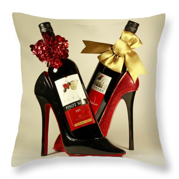 Wine Party Throw Pillow by Inspired Nature Photography By Shelley Myke