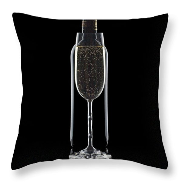 Wine Throw Pillow by Tom Mc Nemar