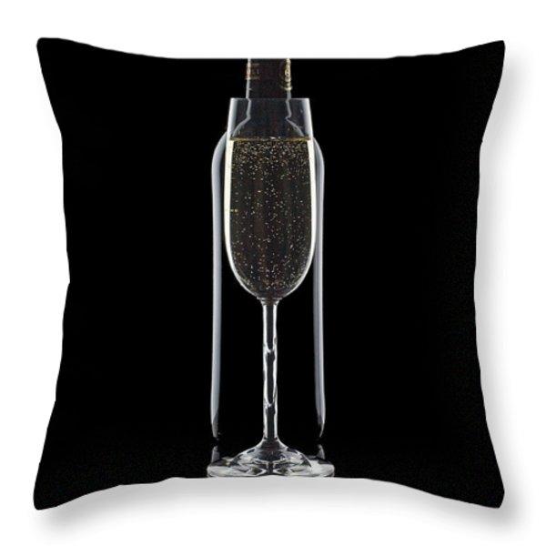 Wine Throw Pillow by Tom Mc Nemar