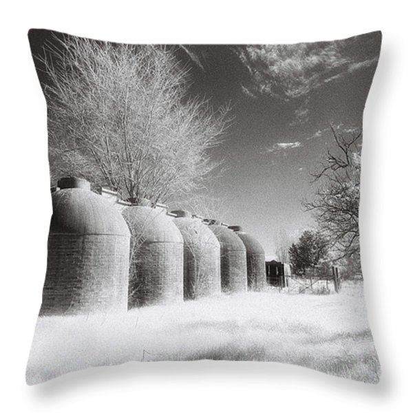 Wine Vats Rutherglen Throw Pillow by Linda Lees