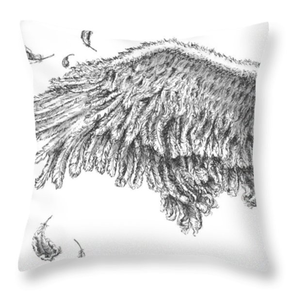 Wing Throw Pillow by Adam Zebediah Joseph