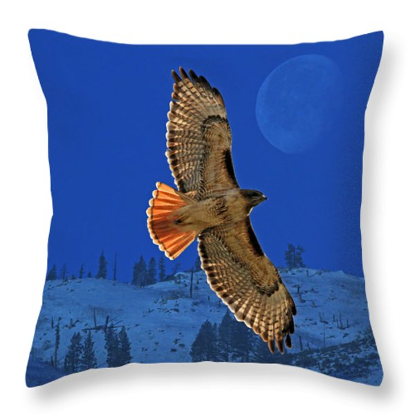 Wings Throw Pillow by Donna Kennedy