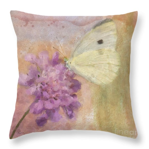Wings Of Beauty Throw Pillow by Betty LaRue