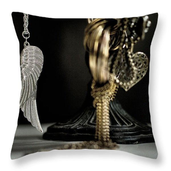 Wings Of Desire I Throw Pillow by Marco Oliveira