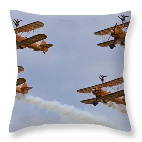 Wingwalkers  Perfect Sync Throw Pillow by Maj Seda