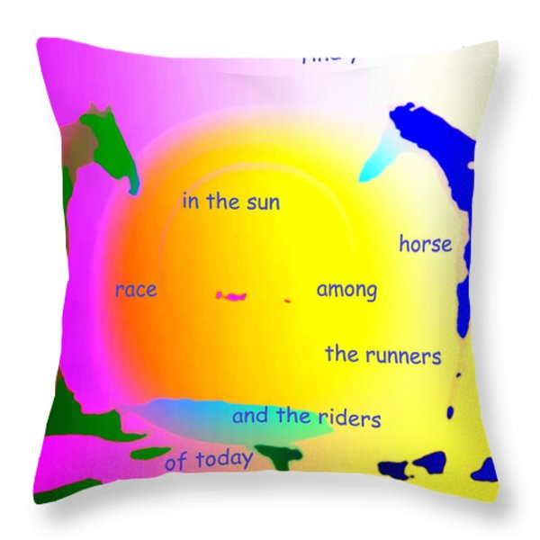winner in the sun Throw Pillow by Hilde Widerberg