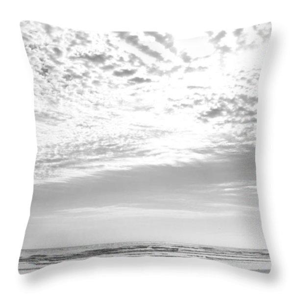 Winter Afternoon St Augustine Anastasia Island Florida Throw Pillow by Michelle Wiarda
