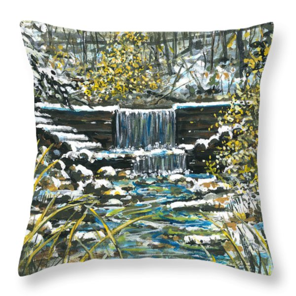 Winter At Iargo Springs Throw Pillow by Robin  Pelton