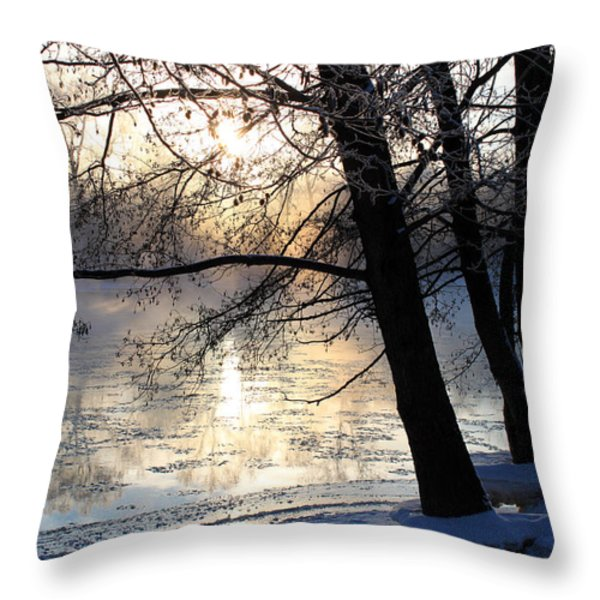 Winter Ballet Throw Pillow by Hanne Lore Koehler
