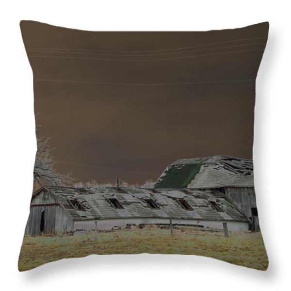 Winter Barns Throw Pillow by Alys Caviness-Gober