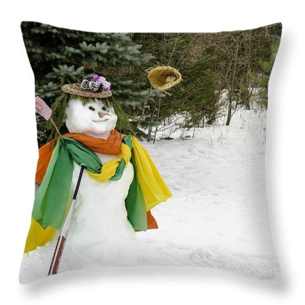 Winter Baseball Ball Gown  Throw Pillow by LeeAnn McLaneGoetz McLaneGoetzStudioLLCcom