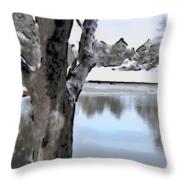 Winter Beauty Throw Pillow by Betty LaRue