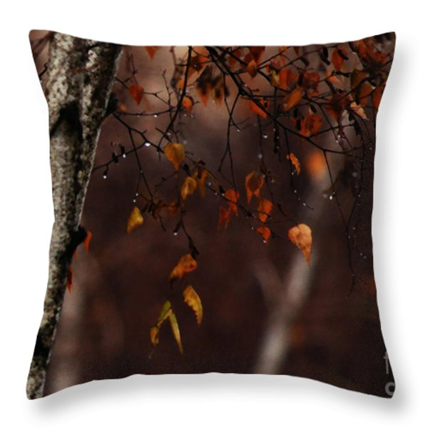Winter Birch Throw Pillow by Linda Knorr Shafer