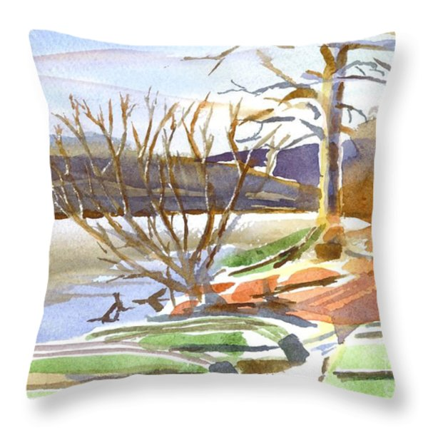 Winter Blue Throw Pillow by Kip DeVore