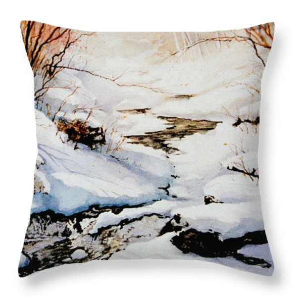Winter Break Throw Pillow by Hanne Lore Koehler