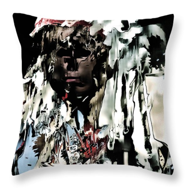 Winter Dance Throw Pillow by Barbara D Richards