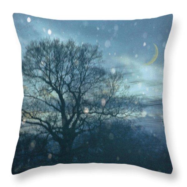 Winter Evening Throw Pillow by Jan Bickerton