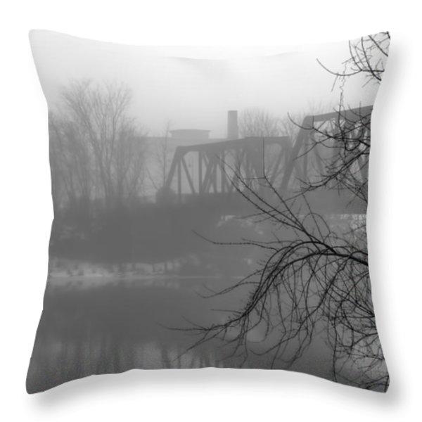 Winter Fog Throw Pillow by Bob Orsillo