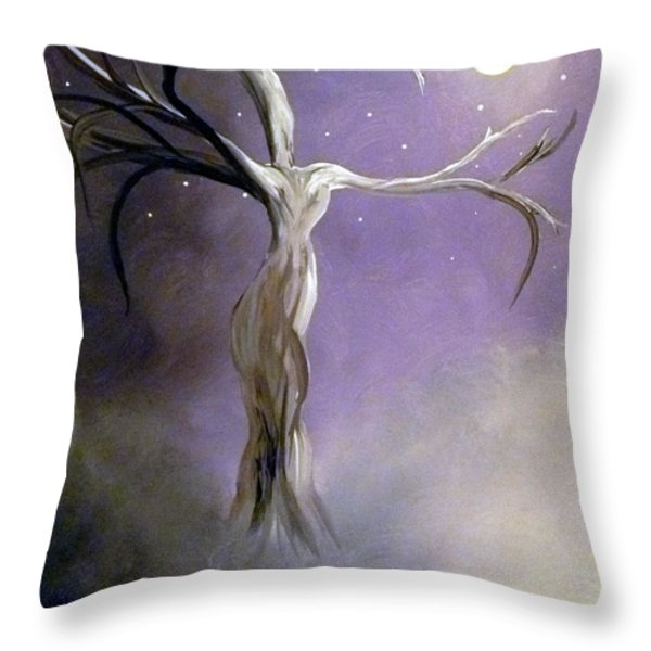 Winter Goddess II Throw Pillow by Alys Caviness-Gober