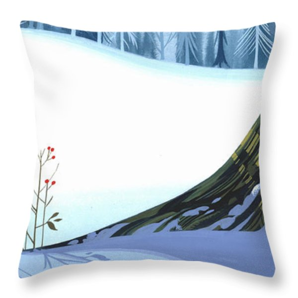 Winter Grace Throw Pillow by Michael Humphries