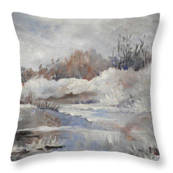 Winter Impressions Throw Pillow by Suzanne Schaefer