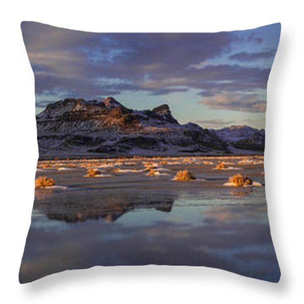 Winter In The Salt Flats Throw Pillow by Chad Dutson