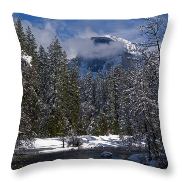 Winter in the Valley Throw Pillow by Bill Gallagher