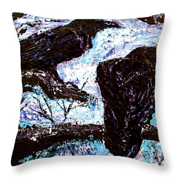 Winter Is Coming Throw Pillow by D Renee Wilson