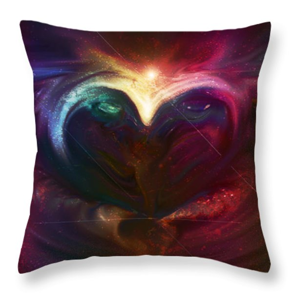 Winter Love Throw Pillow by Linda Sannuti