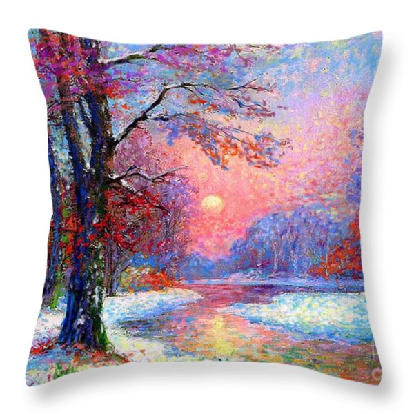 Winter Nightfall Throw Pillow by Jane Small