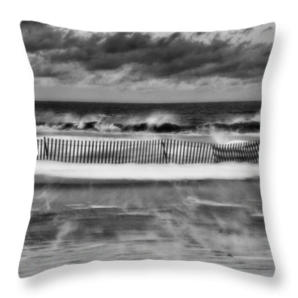 Winter on Long Island Throw Pillow by JC Findley