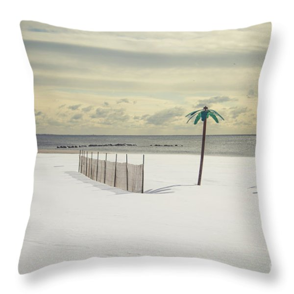 Winter Paradise Throw Pillow by Evelina Kremsdorf