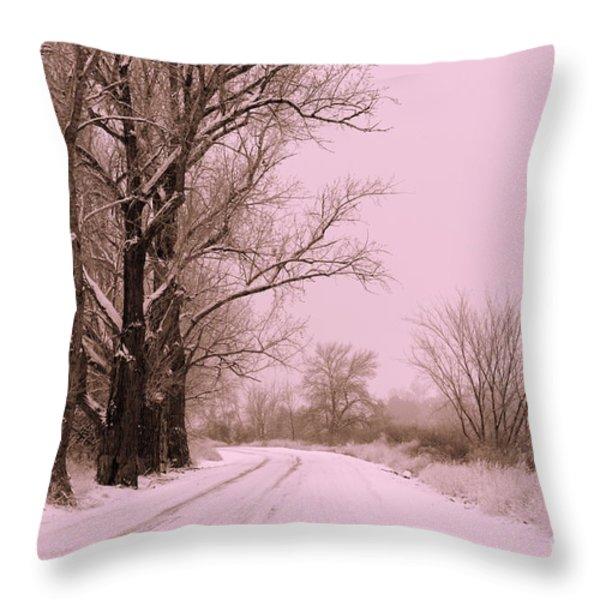 Winter Pink Throw Pillow by Carol Groenen